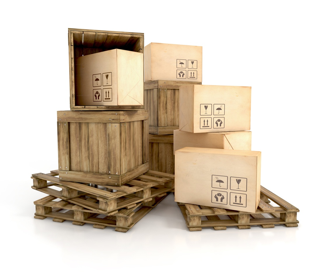 Box in a Cate on a Skid - Freight Shipping Tips